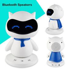 Portable Mini Robot Blueototh Speaker Smart Handsfree TF MP3 AUX Function Bid US