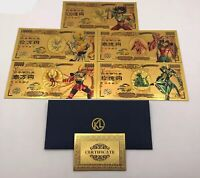 Collection billets Saint Seiya manga gold card or les chevaliers du zodiaque
