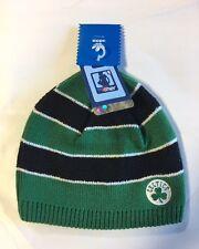 Boston Celtics Knit Beanie Toque Skull Cap Winter Hat NEW NBA Women's Striped