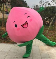 Advertising Pink Peach Mascot Costume Fruits Facny Dress Reenactment Adults Size