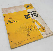 Massey Ferguson Parts Book Catalogue Manual MF242 Digger Excavadora
