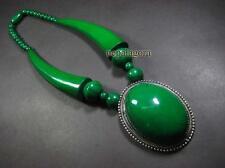 N4613 TIBET BOLD HUGE tribal green bead FASHION Massive Pendant Necklace Jewelry