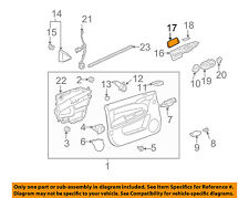 Chevrolet GM OEM 06-13 Impala Front Door-Switch Bezel Cover Right 10352914