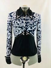 Medium Western Show Pleasure Rail Shirt Jacket Clothes Showmanship Horsemanship