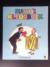 Album Cahier à colorier  Kuifje's Kleurboek Tintin N° 9 1969 ETAT NEUF