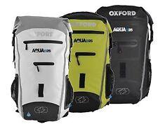Oxford Aqua B-25 Motorcycle Motorbike Luggage Backpack - Black/Fluo 25 Litre