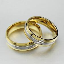 Stainless Steel Metal Wedding Ring Zircon Stone Finger Jewelry 1Ring