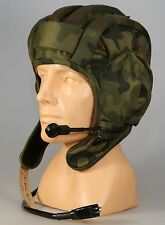 NEW Camo Tanker Hat Poland Army with Headphones and Microphone size 55-56