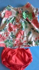 Carter's Just One You Baby Girl Size 3M Butterfly Floral 2 Piece Summer Outfit G