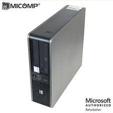 HP Small Desktop Computer PC Dual Core 3.4 GHZ 4GB 250GB DVD WIFI Windows 10 64