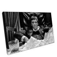 """Black & White Print on Canvas American gangster Tony Montana Scarface 30""""x20"""""""