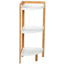 Home Style 3 Tier Shelves Bathroom Bath Corner Storage Caddy Organiser Rack New