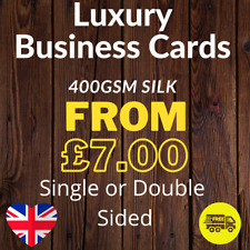More details for luxury business cards printed full colour single or double sided 400gsm silk