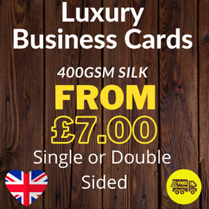 Luxury Business Cards Printed Full Colour Single or Double Sided 400gsm Silk