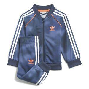 Tuta Adidas Bambino Blu Stampa Camouflage Cerniera Polsini PE 2021 con Tasche