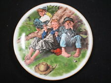 "1977 Norman Rockwell - Adventures Of Tom Sawyer "" First Smoke "" Plate"