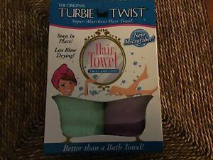 2 Pack ! The Original MICROFIBER Turbie Twist Super-Absorbent Hair Towel
