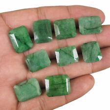 9 Pcs Natural Emerald Stunning Green Ring Size 14.71mm-17mm Octagon Cut Gems