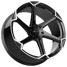 """4ea 22"""" Giovanna Wheels Dalar-X Gloss Black/Machined Face Rims(S1)"""