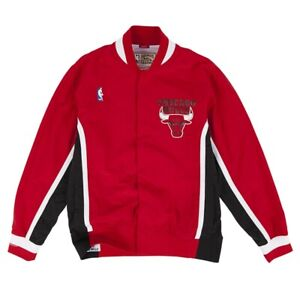 Mitchell & Ness NBA Authentic Chicago Bulls 1992-93 Warm Up Jacket Men's Red Top