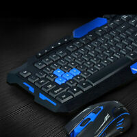 2.4G Gaming Multimedia Cordless Keyboard Wireless Optical Mouse Nano Receiver