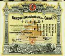 Banque Industrielle de Chine 1919 1920 China Paris Shanghai Banking Hongkong 500