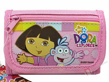 Dora The Explorer & Boots Girls Pink Children's Tri-Fold Wallet - New