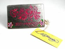 Pink Dragon ??? & Roses Belt Buckle by Ed Hardy