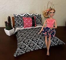 "Barbie doll-Bratz-Monster High 12"" dolls Bedding bed set. Reversible Blanket!"