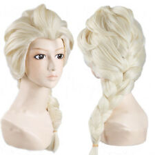 Braid Frozen Elsa Princess Light Blonde Cosplay Wig Synthetic hair