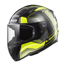 103532554l - Casco Moto Ls2 Rapid Ff353 Carrera Black H-v Yellow -taglia L-