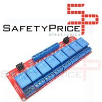 Modulo rele 8 canales 5V alto / bajo nivel con optoacoplador automatizacion PLC
