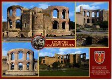 Postkarte Trier Fotokunst Schwalbe: M13 Kaiserthermen, römischer Bäderpalast