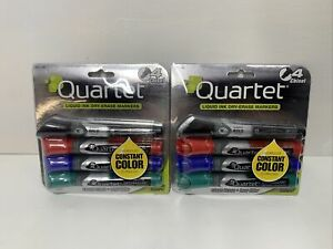 Quartet Dry Erase Markers, EnduraGlide, Super Fine Tip, Assorted Colors, 2-Packs
