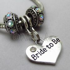 Bride To Be Pendant And Birthstone European Beads For Charm Bracelets
