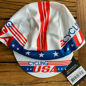 USA CYCLING HEX-TEK® Wicking Polyester Team Bike Cap NEW Hat Free Shipping !!