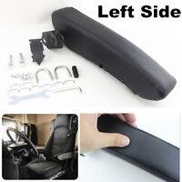Left Side Universal Armrest Centre Console Arm Rest Adjustable Black PU Leather