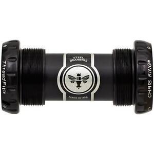 Chris King Bottom Bracket ThreadFit 24 Black 68 - 73mm - Steel Bearings