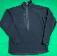 Patagonia Regulator Polartec 1/2 Zip Fleece Pullover Jacket Men's SZ L Black