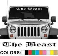 The Beast Old English Windshield Decal Sticker Turbo Truck Lift Mud Car Diesel