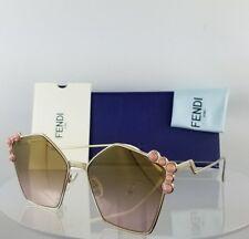 f4b168a9a3d Brand New Authentic Fendi FF 0261 S Sunglasses 00053 Gold 57mm Frame 0261