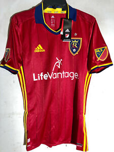 Adidas Authentic MLS Jersey RSL Salt Lake Real Team Red sz M