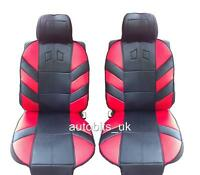RED COMFORT FRONT SEAT COVERS CUSHION FOR RENAULT CLIO SCENIC MEGANE LAGUNA  NEW