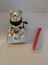 Panda Bear On Sled - Christmas Candle Holder - Silver-Plated - Wm Rogers Lot D
