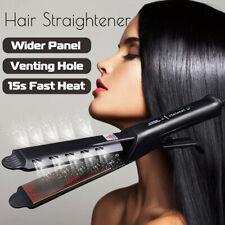 Fast Heat Professional Hair Straightener Flat Iron Wide Panel Steam Salon Style