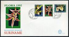 SURINAME E152A/B FDC 1992 - Orchideeën (2 stuks)