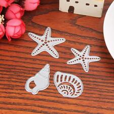 4X Sea Shell Steel Cutting Dies Stencil for DIY Scrapbooking Paper Card Craft US