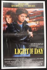 LIGHT OF DAY promotional poster 1987 Vestron Video JOAN JETT, MICHAEL J. FOX