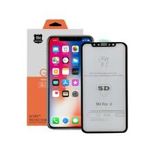 iPhone X / XS ( Front + Back klar  5D 9H ) Panzerglas Full Screen Echt Glass