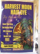 Harvest Moon, Henna Hut Henna,Powder,   HAIR & BEARD DYE,  LIGHT BROWN. FREE P&P